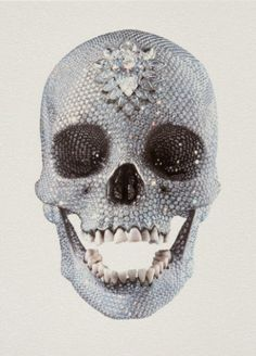 DAMIEN HIRST  / found on www.kunzt.gallery / For the Love of God (front), 2011 / Screen-print