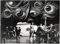 Set design by Salvador Dali for Spellbound, directed by Alfred Hitchcock, 1945