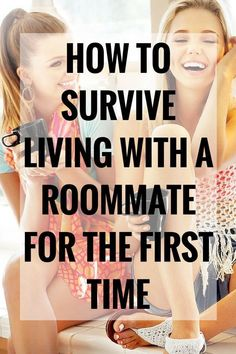 Before heading off to college, most of us have never lived with a roommate. Here's how to survive living with a roommate for the first time. College Freshman Tips, College Roommate, College Planning, College Years, Freshman Year, College Hacks, College Dorm Rooms, College Life, College Students