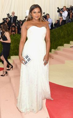 Mindy Kaling from Met Gala 2016: Red Carpet Arrivals  In Tory Burch