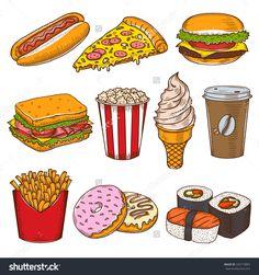 复古手绘快餐图标集。披萨店,咖啡馆,汉堡矢量插图。-食品及饮料,物体-海洛创意(HelloRF)-Shutterstock中国独家合作伙伴-正版素材在线交易平台-站酷旗下品牌