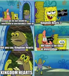KH3 Reaction. I dedicate this to my brother. Our same reactions. ;)