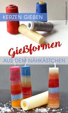 doppeltes Upcycling: Kerzen gießen in Overlock-Konen Creative, Advent, Zero, German, Inspiration, Ideas, Crafting, Play Dough, Creative Ideas