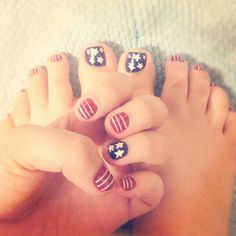 4th of july #nails