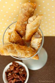 Pecan Pie Egg Roll Recipe on Capturing-Joy.com