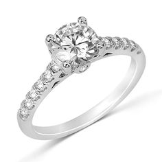 Fana Classic Cathedral-Set Diamond Engagement Ring #justicejewelers #fana