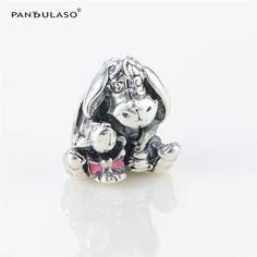 Pandulaso Disny Eeyore Charm Donkey Beads For Woman DIY Original 925 Sterling silver Jewelry Fit Snake Chain Charms Bracelets  #Affiliate