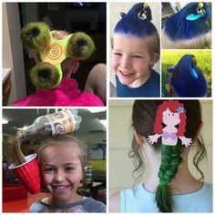 30 CRAZY HAIR IDEAS FOR KIDS- these are awesome!!  My kids love crazy hair day!