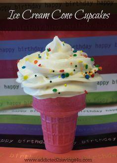 Ice Ceam Cone Cupcak