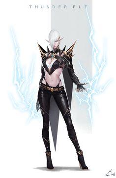 ArtStation - Thunder Elf, Shen YH