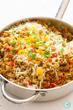 Taco rice skillets- this is the easiest recipe for spicy taco rice bowls!