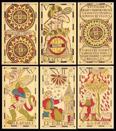 Vandenborre Bacchus Tarot  Flämischer Tarot Tarotkarten ND 1775 Tarotkarten