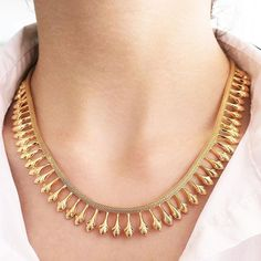 Antique Victorian Etruscan Revival Necklace in 18k #gold #vintage #jewelry