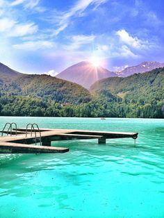 Lago di Barcis, Northern Italy, near borders of Slovenia and Austria