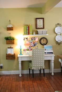 cute desk and wall art