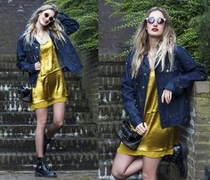 Get this look: http://lb.nu/look/8633709  More looks by Eva Velt: http://lb.nu/eviv  Items in this look:  Boohoo Slip Dress, Cheap Monday Jacket, River Island Sunnies, Asos Boots, Ursul Paris Bracelet   #bohemian #edgy #street
