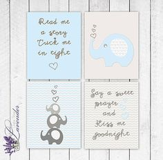 Nursery or Home Decor baby blue and Grey by lavenderdigitalshop, $5.00