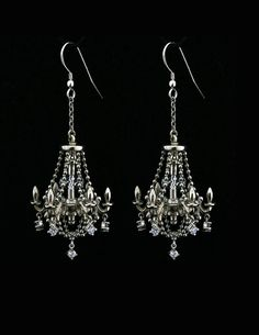 Sterling Silver Chandelier Earrings by MetalCoutureBridal on Etsy