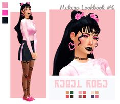 Rebel Rose Collection by Wet N Wild 🌹 hair - bangs - earrings - choker - eyeshadow - lipstick - top - acc bra - skirt - eyeliner - tights - shoes Credits: Sims Four, Sims 4 Mm Cc, Sims 4 Mods Clothes, Sims 4 Clothing, Maxis, Sims 4 Gameplay, Sims 4 Cc Makeup, Sims4 Clothes, Play Sims