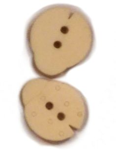 Fancy and Decorative {17mm w/ 2 Holes} 10 Pack Mix of Medium Size 'Flat' Sewing and Craft Buttons Made of Genuine Wood w/ Cute Ladybug Shape Light Natural Color Cute Kids Crafts Design {Tan} -- Read more reviews of the item by visiting the link on the image.