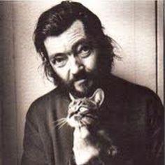 Julio Cortázar and cat