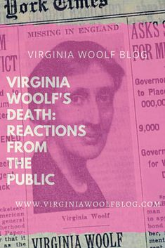After the press reported Virginia Woolf's disappearance in early April of 1941 and her death three weeks later, Virginia's husband, Leonard Woolf, received an outpouring of condolence letter Virginia Woolf Death, Condolence Letter, Leonard Woolf, Bloomsbury Group, Room Of One's Own, Condolences, Public, Author