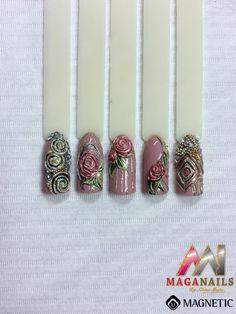 Gel paste, Nail art, Magnetic Nails, Maga Nails,