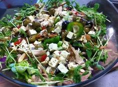 Roast Chicken Greek Salad recipe