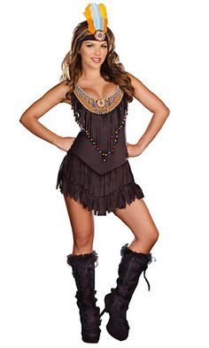Adult Native American Costume: Sexy Reservation Royalty Costume