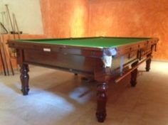 10ft Burroughs And Watts Snooker Table. Provence (2) | Browns Antiques  Billiards And