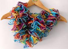 sciarpa multicolor primaverile filato fantasia con di cosediisa, €15.00