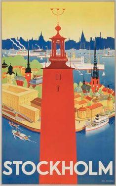Poster by Iwar Donner, 1936, Stockholm.