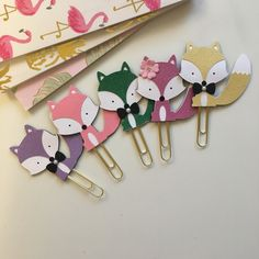 Fox planner paperclip bookmark plannerclip. by PurplePowerShop