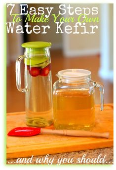 These are really Easy Steps to Make Water Kefir... and it is so so good for you.  #waterkefir #immunebooster