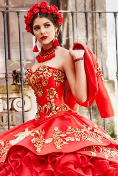 Ideas for Discovering the Perfect Quinceanera Dress. The most vital aspect of a quinceanera for a girl is her dress! Quince Dresses, 15 Dresses, Formal Dresses, Wedding Dresses, Mexican Quinceanera Dresses, Mexican Dresses, Beige Rose, Blue Ivory, Charro Dresses