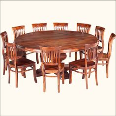 Dining Room Table Round Seats 8 Mesmerizing Dallas Ranch 13Pc Square Pedestal Large Dining Table & Chair Set Decorating Inspiration