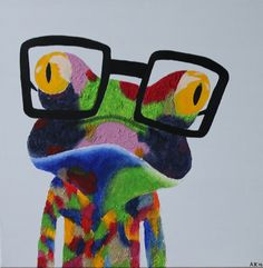#art #frog #frosch #popart #painting #kunst #Jugendkunst #youthart #malerei
