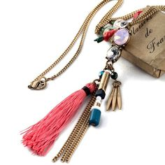 boho style pretty necklace is available at Department Golden Pineapple . PM/email us at departmentgoldenpineapple@gmail.com for further info. Pretty Necklaces, Jewelry Necklaces, Indian Fashion, Boho Fashion, Boho Style, Tassel Necklace, Pineapple, Fashion Accessories, Chokers
