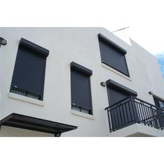Need roller shutters for the north wall our house but do I like black on white?