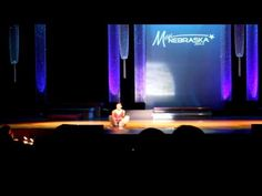 "Rachel performs her talent to ""Man of La Mancha"" at Miss Nebraska 2012"