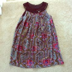 """Anthropologie dress sz xs Amazing anthro dress by moulinette soeurs!  Model is """" Linnea velvet dress"""". Pattern is gorgeous and encourage you to look online because pics don't do it justice ! Size xs but will easily fit small. Anthropologie Dresses"""
