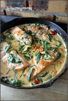 Keskonmangemaman?: Saumon toscana , recette express pour cuisinier gourmand pressé