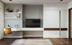 Modern Interiors Flavoured With Chic Asian Decor Modern Apartment Design, Dining Table With Bench, Minimalist Bedroom, Modern Minimalist, Japanese Interior, Asian Decor, Dining Room Walls, Cabinet Design, Decor Interior Design