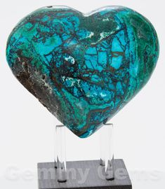 Exquisite polished Chrysocolla Druzy Heart from Peru. Chrysocolla is often mixed with Quartz, Selenite, Cuprite, Azurite, Malachite, Shattuckite,Hematite, Opal and Turquoise. See pictures for more details.   eBay!