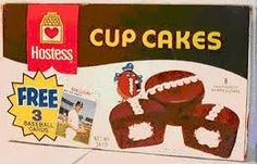 "Hostess Cup Cakes.  important to eat the frosting off these first.  Not hard because the rubber-like ""icing"" peeled right off the top."