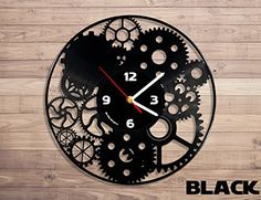 Mechanism unique wall clock from vinyl record Record Wall Art, Vinyl Record Clock, Vinyl Records, Cool Clocks, Unique Wall Clocks, Clock Art, Diy Clock, Vinyl Record Crafts, Family Tree Wall Sticker