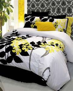 12 Best Black white yellow bedroom images in 2013   House design ...