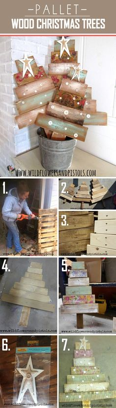 Re-purposed Wood Pallet Christmas Tree