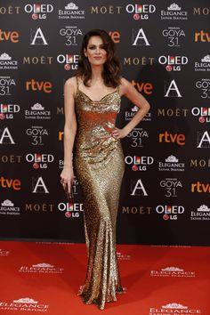 Mar Saura Con vestido de Michael Kors. - goya 2017