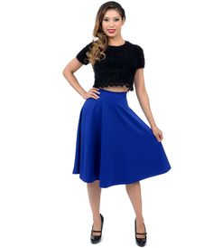 Breeze along in this heavenly high waisted #pinup skirt! #uniquevintage